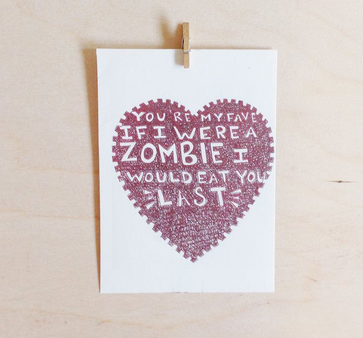 Awesome Zombie Card for pretty much any occasion. Even Mother's Day.
