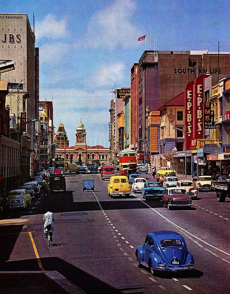 Port Elizabeth Main Street. With JBS on left. Where I started work in 1969