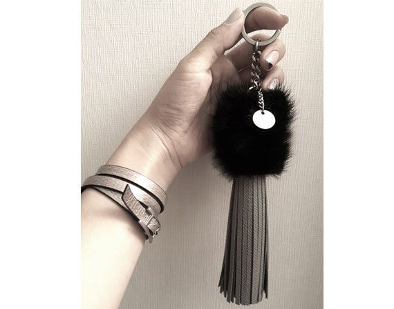 Hey, I found this really awesome Etsy listing at https://www.etsy.com/listing/261803215/mink-leather-tassel-leather-bag-charm