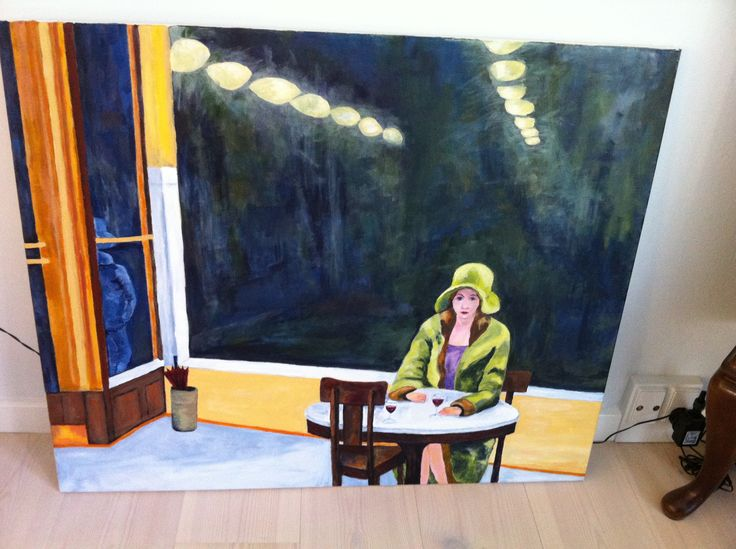 Painting - Edward Hopper parafrase