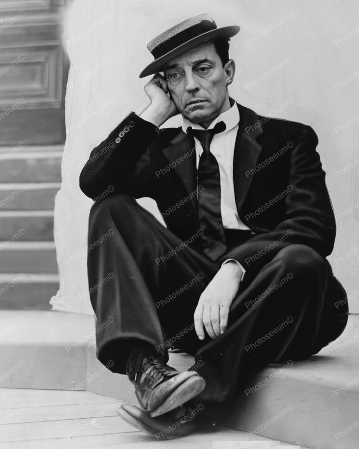 Buster Keaton In Wistful Pose 1930s 8x10 Reprint Of Old
