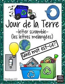 FRENCH – Jour de la Terre – Earth Day – word scramble