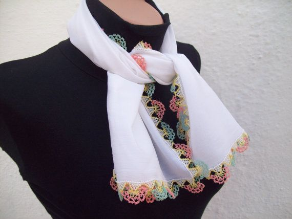 Handmade Traditional Turkish Fabric Scarf-Shawl- Needle Lacework Holiday Accessories Spring Celebrations women scarf mothers day  Ask a Question $29.00 USD. TURKEY