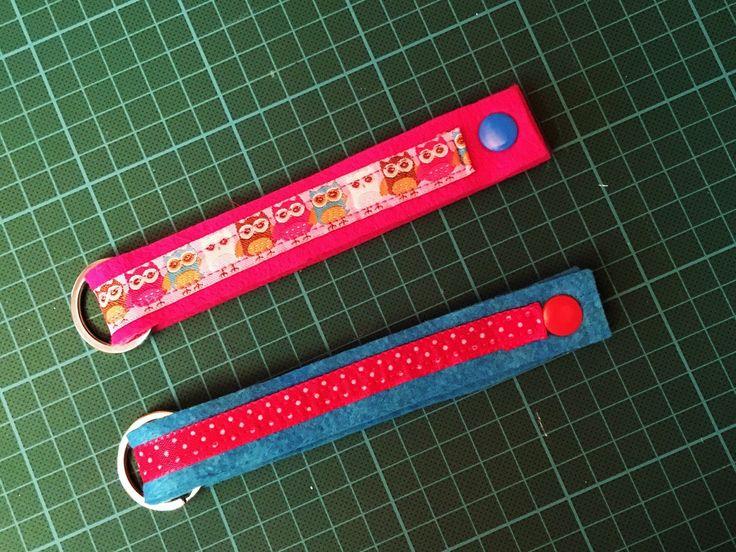 www.gluecksfrosch.de Schlüsselanhänger rosa und türkis