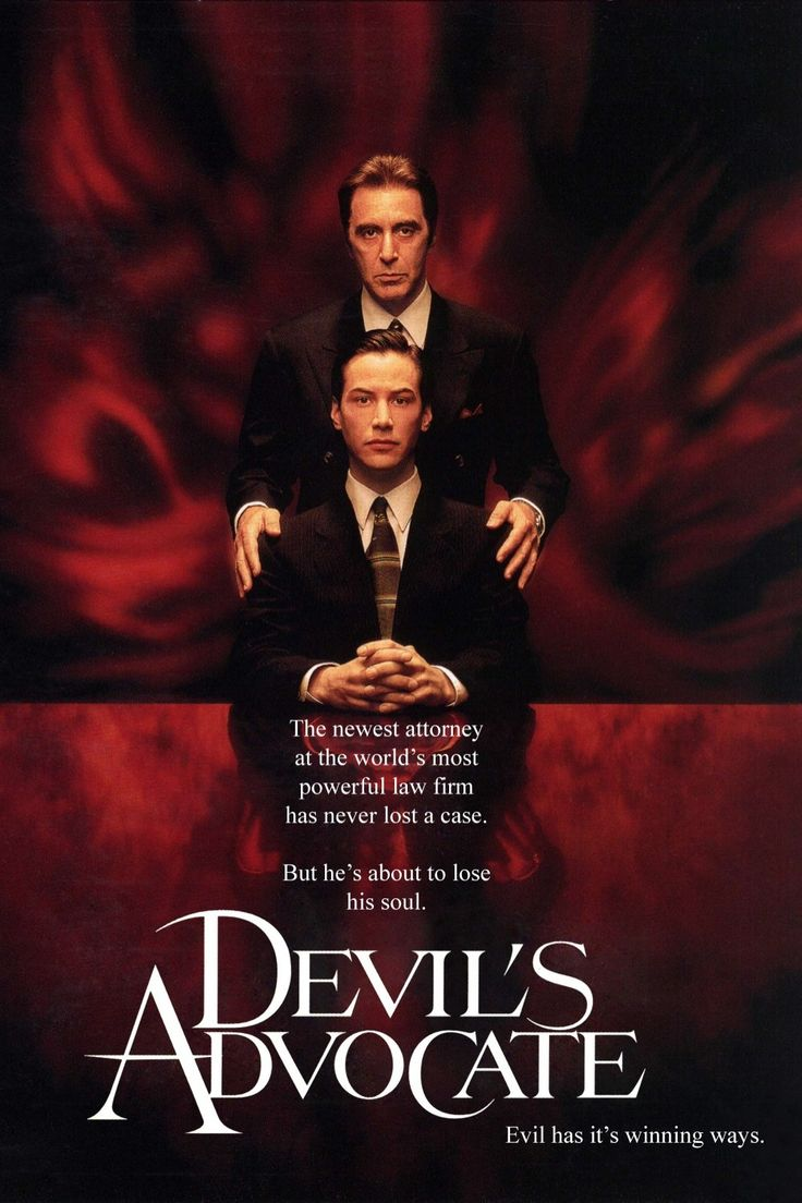Been one of my favorites since I saw it....DEVIL'S ADVOCATE (1997): An exceptionally adept Florida lawyer is offered a job to work in New York City for a high-end law firm with a high-end boss - the biggest opportunity of his career to date.