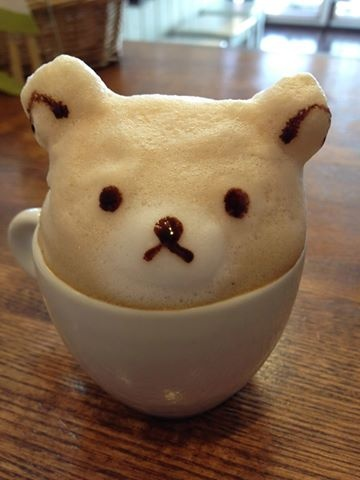#LATTE ART BEAR~