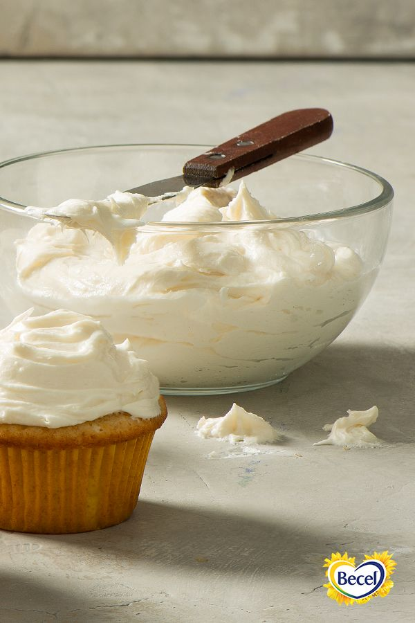 Our Buttercream Frosting recipe, made with new, limited-edition Becel Sticks, can be used to ice cakes, cupcakes and loaves.