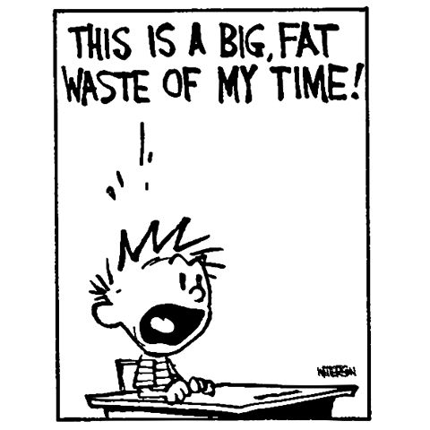 Calvin and Hobbes, THIS IS A BIG, FAT WASTE OF MY TIME!
