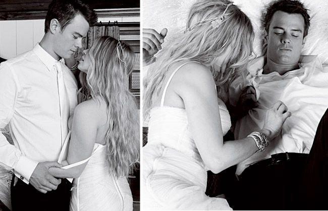 Fergie and Josh Duhamel sexy wedding photos.