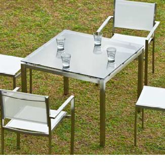 """Illus Kube Sq. Dining Table BY SOKUL D 36"""" or 59"""" W 36"""" or 59"""" H 30""""  Stainless Steel"""
