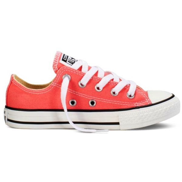 coral converse this color is better! My Style ❤ liked on Polyvore featuring shoes, converse shoes, coral shoes и converse footwear