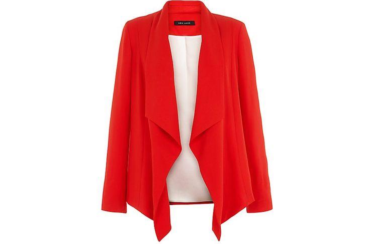 Red Waterfall Blazer  | New Look