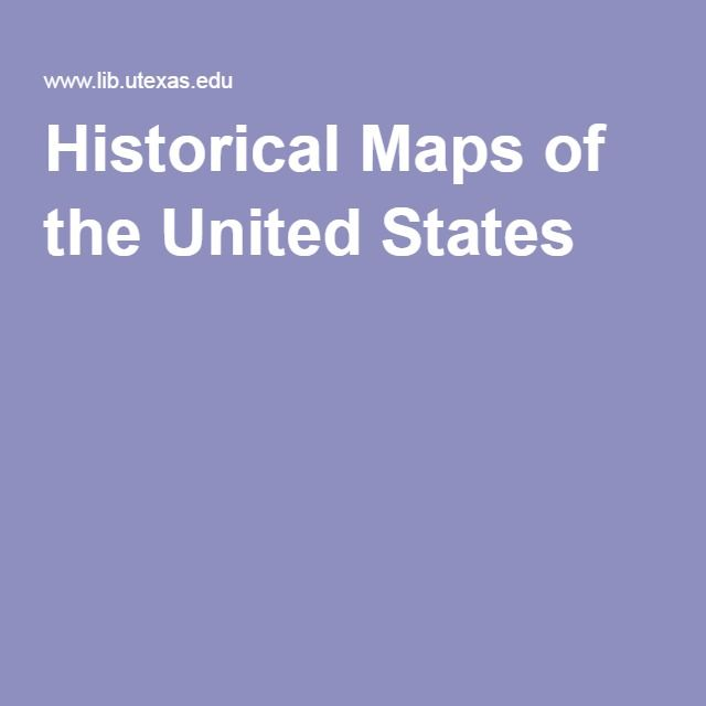 Historical Maps of the United States. Great for genealogy research.