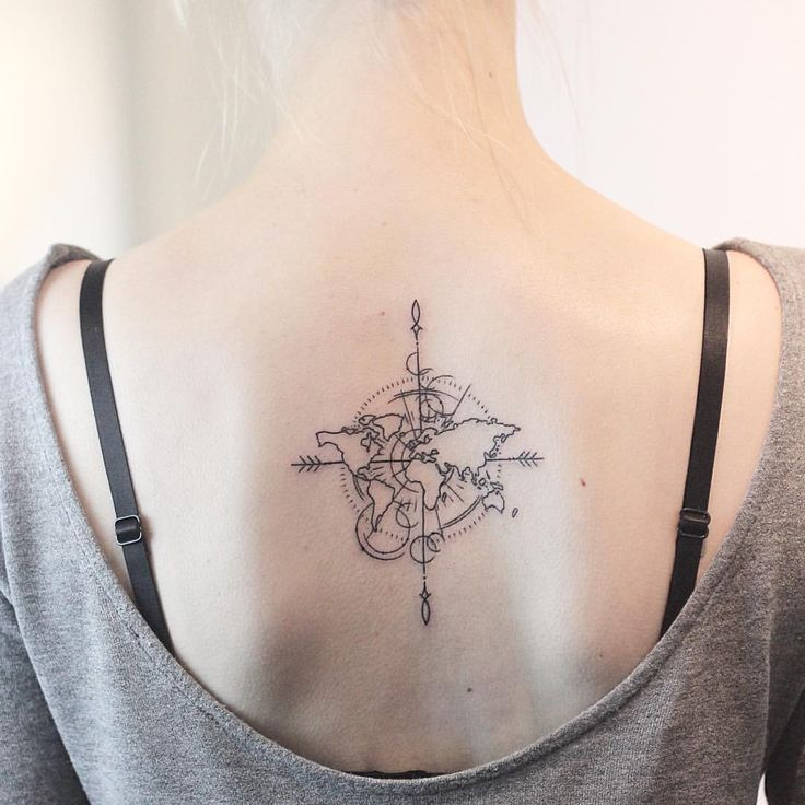 Best 25 world map tattoos ideas on pinterest world tattoo little world map piece made at machines gumiabroncs Choice Image