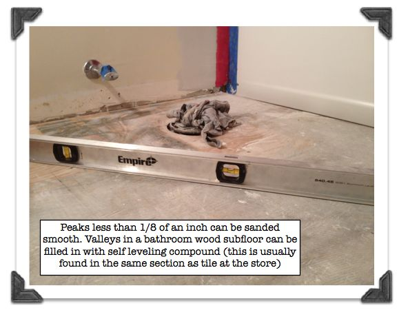 Fix peaks and valleys in the wood bathroom subfloor - 13 Best Images About Flooring On Pinterest To Fix, Plank And