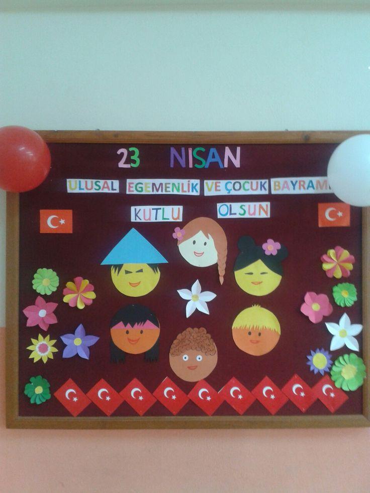 23 Nisan Ulusal Egemenlik ve Çocuk Bayramı panomuz.