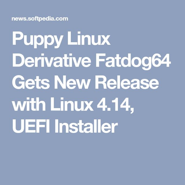 Puppy Linux Derivative Fatdog64 Gets New Release with Linux 4.14, UEFI Installer