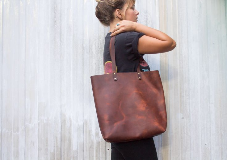 Excited to share the latest addition to my #etsy shop: Handmade Leather Tote, Woman's Leather tote, Messenger Bag, Distressed Leather, Leather Tote Crossbody, Minimalist Leather Bag, Unisex Bag
