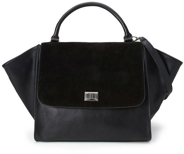 replica designer handbags celine - celine trapeze leather satchel