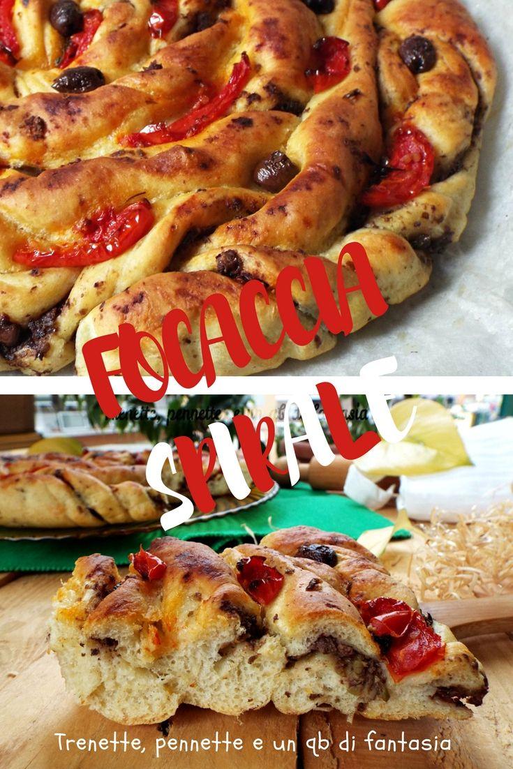 Focaccia spirale con olive e pomodorini cotti al forno… Bellissima vero , ma ancor di piu morbida, appetitosa e irresistibile nel sapore la Focaccia è una ricetta davvero perfetta.....