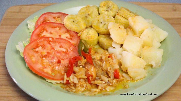 ❤️ Love For Haitian Food: Mori ak banann bouyi (Salted codfish and boiled plantains)