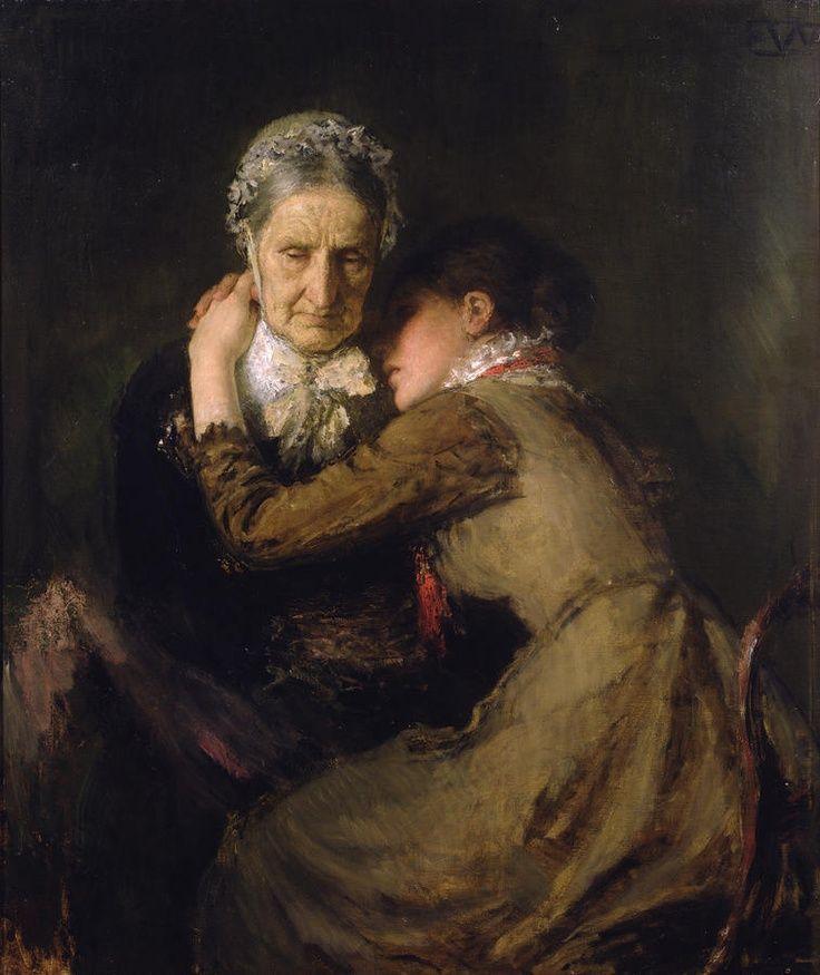 Artists - Erik Werenskiold. on Pinterest | Woman Reading, Funeral ...