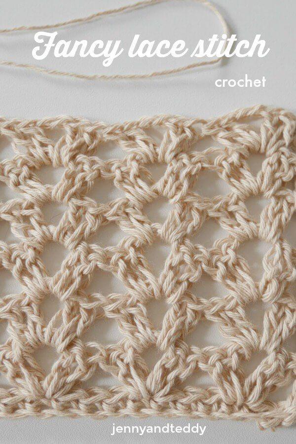 fancy lace crochet stitch by jennyandteddy easy beginner friendly ...