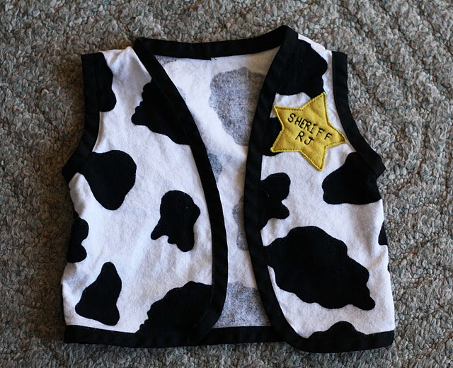 How to make a Sheriff Woody waistcoat - with pattern