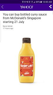 Bottled curry sauce from McDonald's Singapore   Curry Fast-Food Food-And-Drinks Melbourne