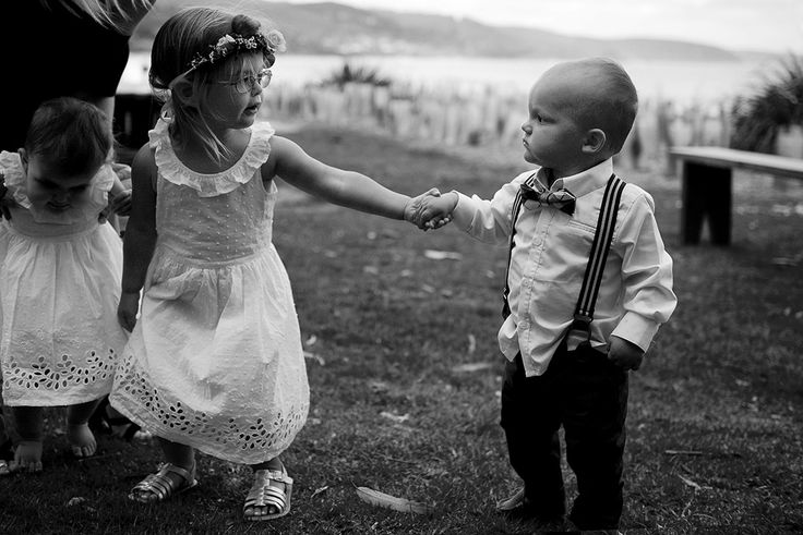 Let me lead you - the littlest members of the bridal party stealing the show