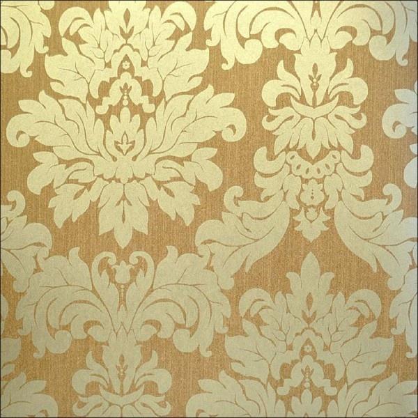 Gold damask wallpaper Hall Possibilities Pinterest