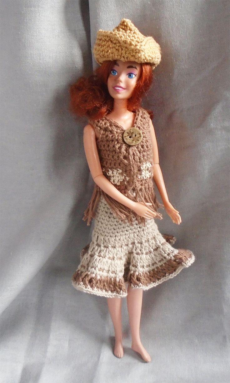 Western dress for Barbie