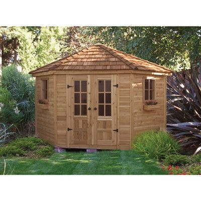 garden shed the outdoor living today penthouse 9 x 9 ft garden shed can act as much more than a shed this beautiful five sided