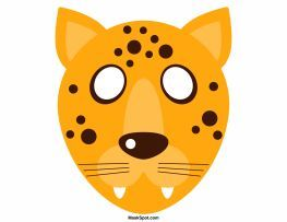 Cheetah Mask Templates Including A Coloring Page Version Of The Free Printable PDF At