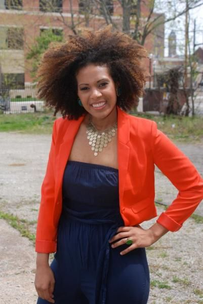 Fashionable natural hair beauty