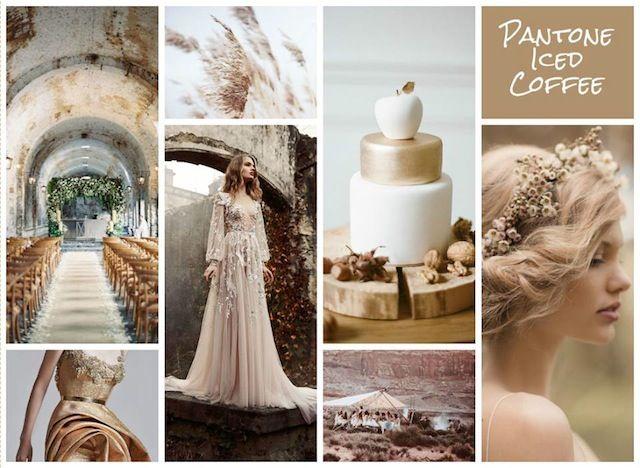 My Winning Pantone Iced Coffee Wedding Mood Board As Featured On Burnetts Boards Aawep