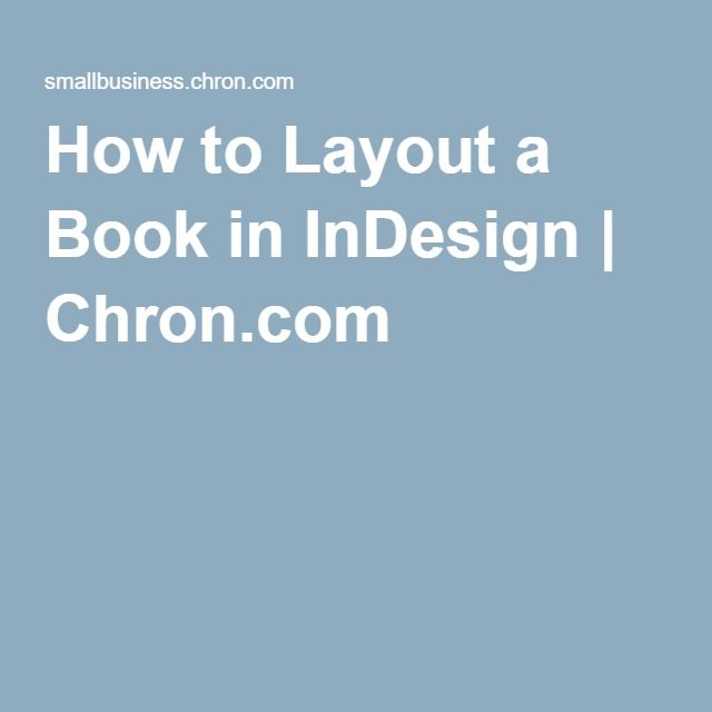 12 best indesign images on pinterest adobe indesign infographic how to layout a book in indesign fandeluxe Image collections