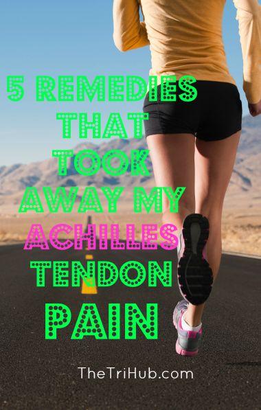 5 Remedies That Took Away My Achilles Tendon Pain #running #runner Triathlete…