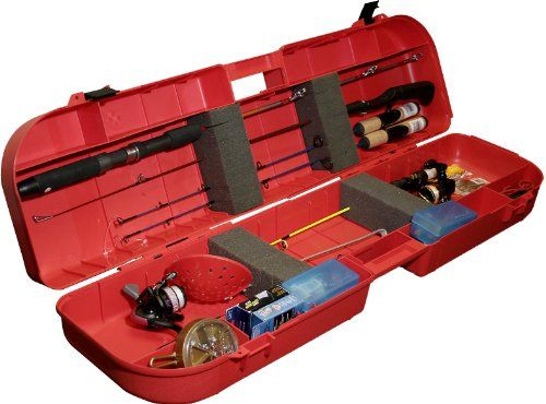 MTM Ice Fishing Rod Box (Red) - http://bassfishingmaniacs.com/?product=mtm-ice-fishing-rod-box-red