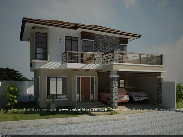 Modern zen cm builders inc philippines home ideas Modern house design philippines