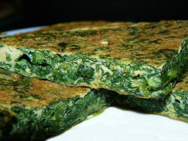 Receta de Tortilla de espinacas (Capisi)