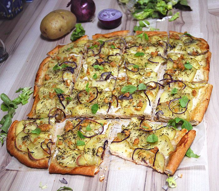 Bramborová pizza | Veganotic