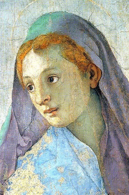 Pontormo, The Annunciation (detail), Cappella Capponi, c. 1527