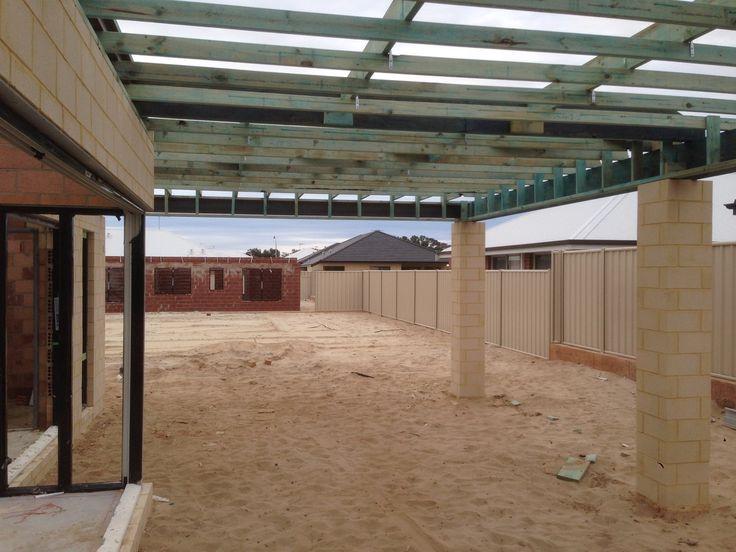 Alfresco work in progress! #perth #homebuilding #hgwa