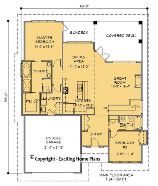 House Plan Information For E1049 10 Bungalow House Plans House Plans Online House Plans