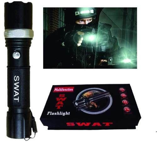 Kit Lanterna Tática Swat Led Profissional  Power Police 8 Km