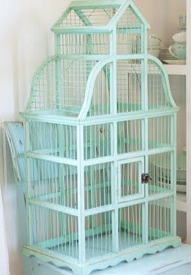 bird cage - so gorgeous, love the colour