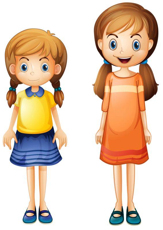 Картинка три девочки для детей