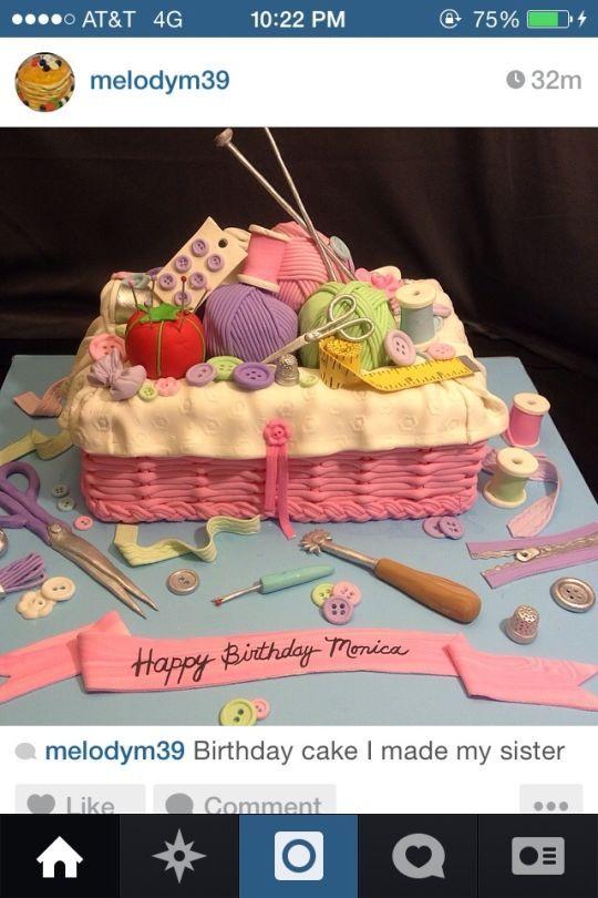 Sewing, knitting Cake