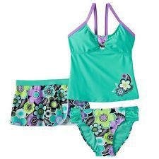 Girls Swimwear ZEROXPOSUR Tankini Swimsuit Set swim suit with skirt cover up
